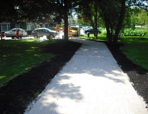 Duivendrecht herstel voetpad Venserpark