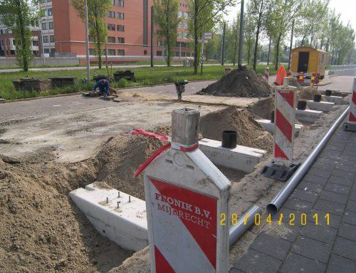 Amstelveen aanleg fietsenstalling Amstelveenlijn
