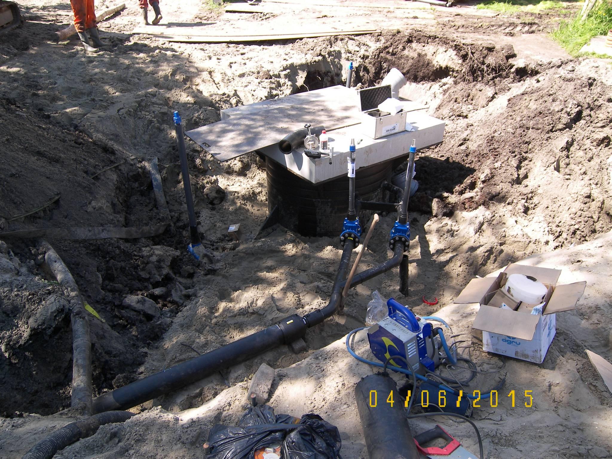 Aannemingsbedrijf Fronik Infra B.V. in Mijdrecht Uithoorn, rioolreconstructie Molenvaart contractvorm UAV-gc