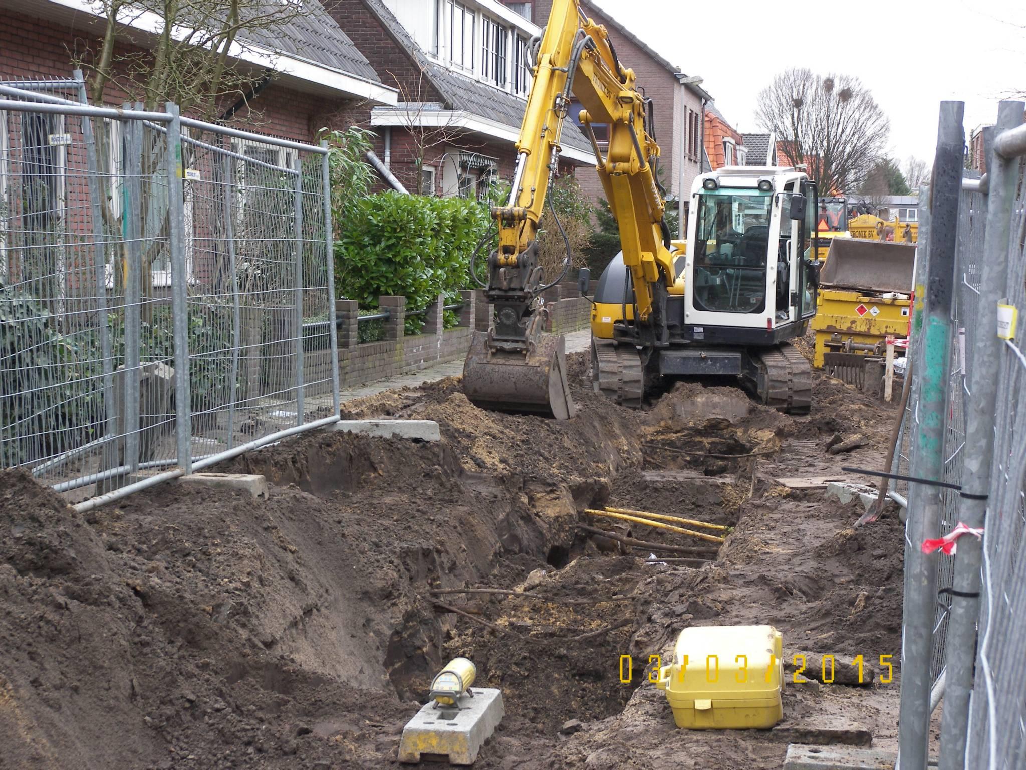 Aannemingsbedrijf Fronik Infra B.V. in Mijdrecht Bussum, rioolwerk herinrichting Veldheimerlaan/Botweg