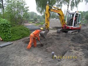 Aannemingsbedrijf Fronik Infra B.V. in Mijdrecht Uithoorn, herstraten en vervangen riolering Grevelingen en Gooimeer