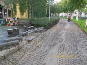 Aannemingsbedrijf Fronik Infra B.V. in Mijdrecht Amstelveen reconstructie Fietspad Spinnerij / Brink