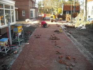 Aannemingsbedrijf Fronik Infra B.V. in Mijdrecht Castricum, Bouw en woonrijpmaken bouwplan Nieuw Koningsduin