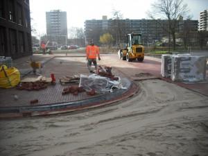 Aannemingsbedrijf Fronik Infra B.V. in Mijdrecht Haarlem, Woonrijpmaken W5 en inrit W1 en H-023