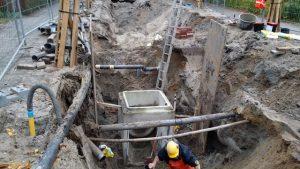 Aannemingsbedrijf Fronik Infra B.V. in Mijdrecht Oegstgeest, afkoppelen Oranjepark
