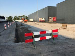 Aannemingsbedrijf Fronik Infra B.V. in Mijdrecht, Lisse, Onderhoud terrein distributiecentrum C&A