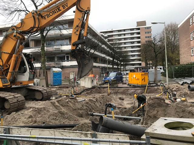 Aannemingsbedrijf Fronik Infra B.V. in Mijdrecht, Amsterdam, rioolwerk Bolestein