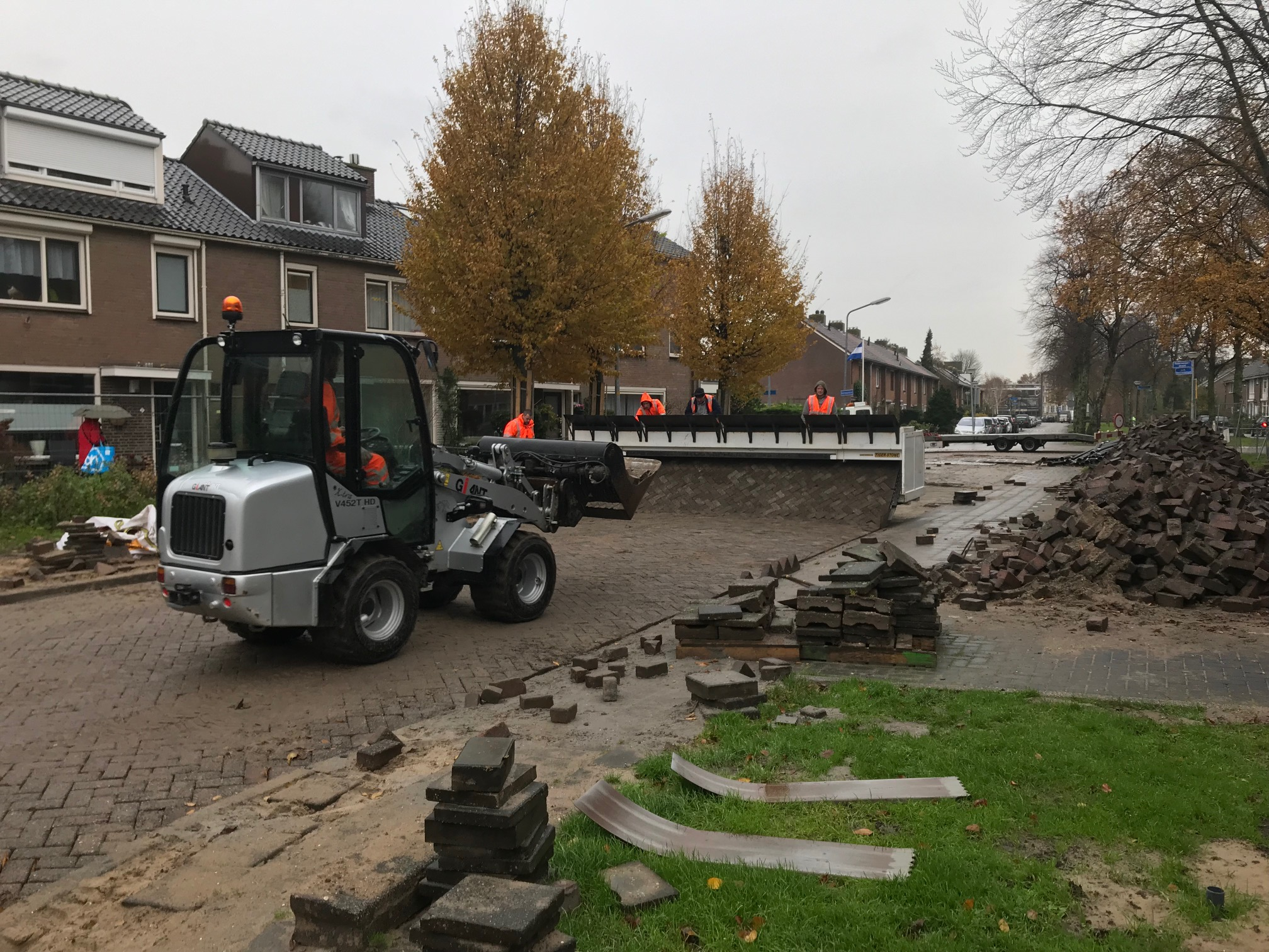 Aannemingsbedrijf Fronik Infra B.V. in Mijdrecht, Weesp, Rioolreconstructie Kastanjelaan