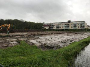 Aannemingsbedrijf Fronik Infra B.V. in Mijdrecht, Noordwijk, Bouwrijpmaken bouwplan Voorhof, wijk Boechorst
