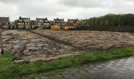 Noordwijk, Bouwrijpmaken bouwplan Voorhof, wijk Boechorst