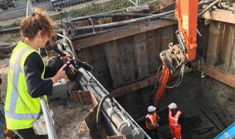 Amsterdam, rioolreconstructie met trillingsvrije bouwkuip IJsbaanpad