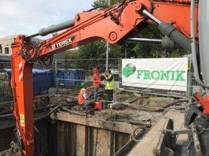 Aannemingsbedrijf Fronik Infra B.V. trillingsvrije bouwkuip ijsbaanpad