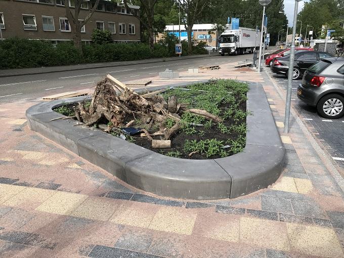 Fronik Infra herinrichting parkeerterrein WC Kostverlorenhof Amstelveen